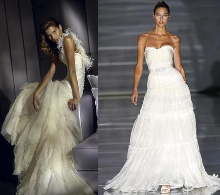 Блестящие ткани для свадебных платьев