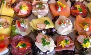 канапе с лососем