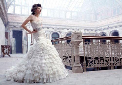 Свадебное платье 2011 фасон рыбка (русалка)