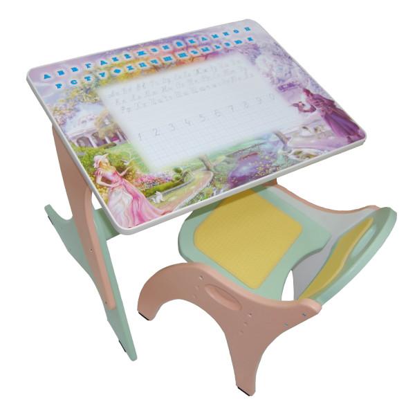 Регулируемые столик и стульчик для детей